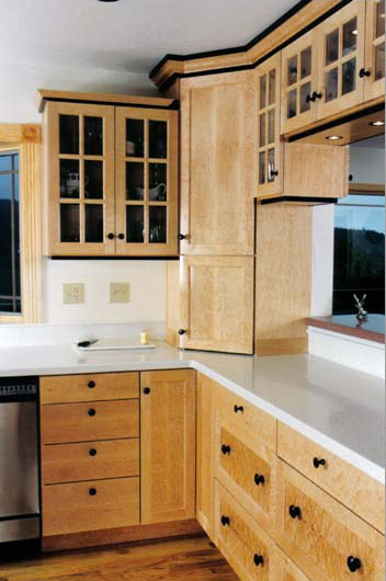 Johns furniture cabinets kitchens for Birdseye maple kitchen cabinets